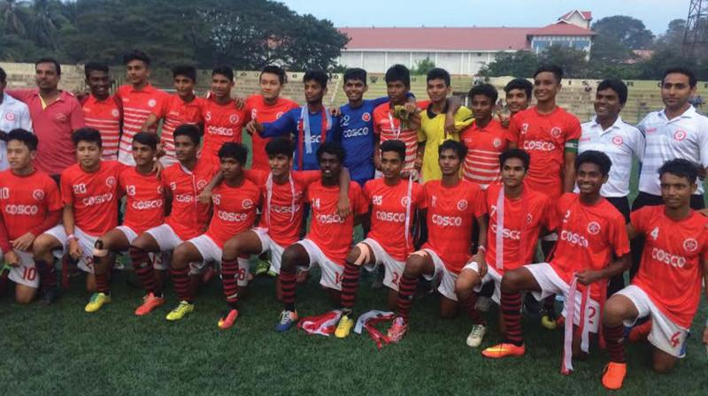 Red Star FC team which will be taking part in the U-16 national competition to be held in Goa. (Photo: DC)