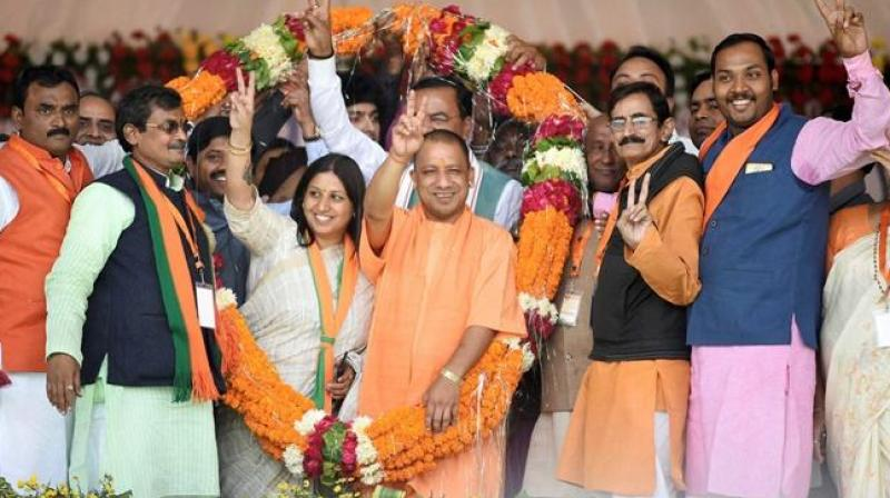 BJP clean sweeps UP civic polls, wins 14 out of 16 seats