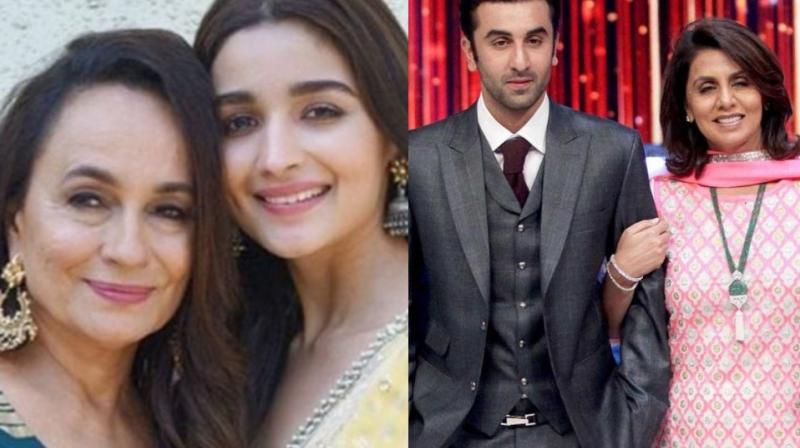 Both Alia Bhatt and Ranbir Kapoor are very close to their respective mothers, Soni Razdan and Neetu Kapoor.