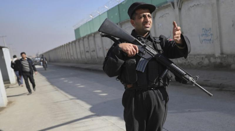 Police have sealed off the eastern District 9 area of Kabul as they search for the assailant. (Photo: AP)