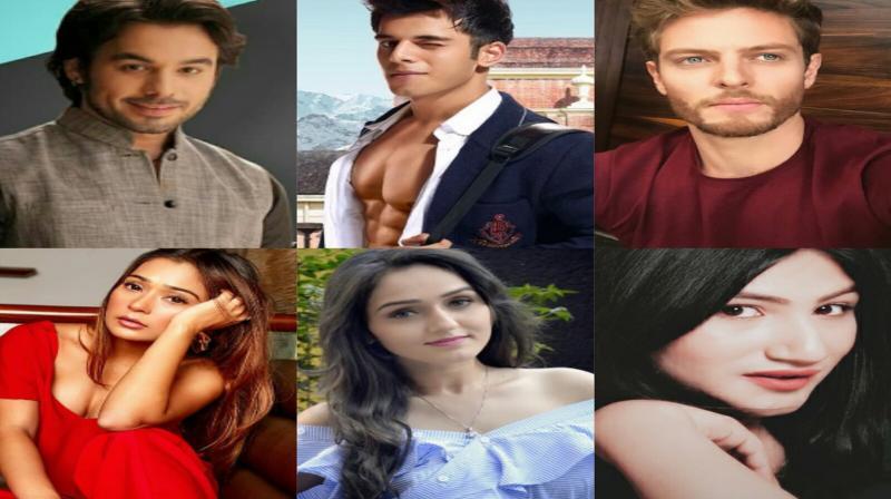 TV Celebs: Manish Goplani, Siddharth Sharma, Jason Shah, Sara Khan, Tanya Sharma and Mahika Sharma.
