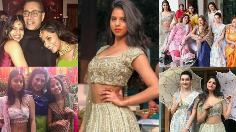 Shah Rukh Khan's daughter Suhana was one of the star attractions at a wedding held in Delhi recently along with her mother Gauri Khan. (Photo: Instagram)