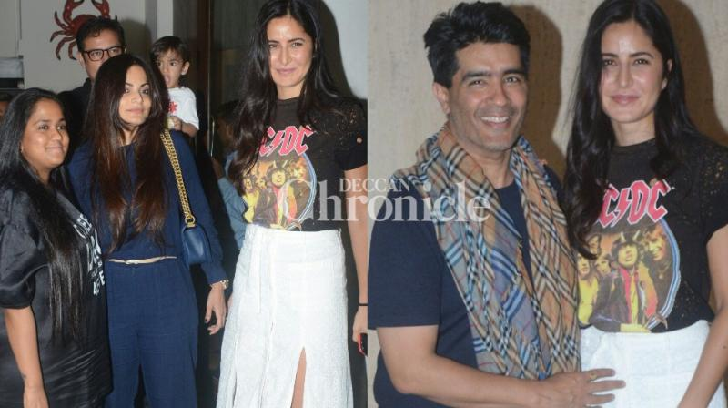 Katrina Kaif chilled out with some of her close friends in the industry on Wednesday evening in Mumbai. (Photo: Viral Bhayani)