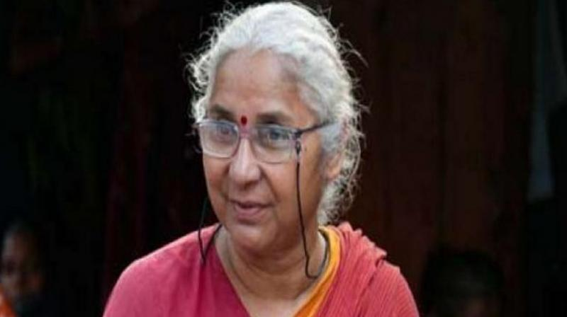 """Patkar, the founder of the 'Narmada Bachao Andolan', and her associates had launched the fast on July 27, demanding""""proper"""" rehabilitation and resettlement of those affected by the Sardar Sarovar Project. (Photo: File   ANI)"""