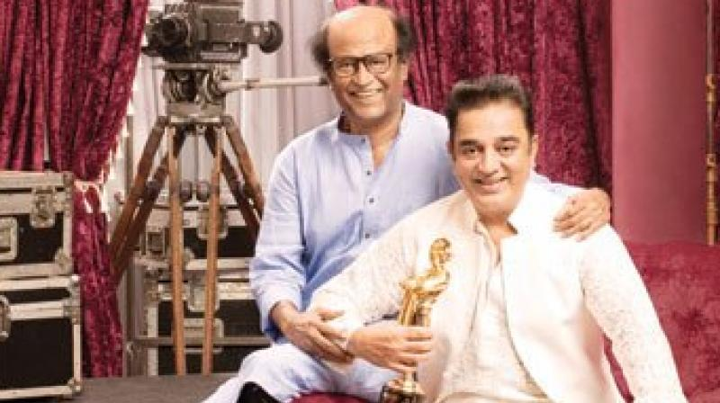 Rajini and Kamal last acted together in a Malayalam movie.