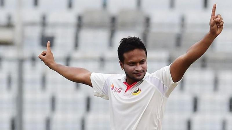 32-year-old all-rounder Shakib Al Hasan  took the test captaincy in 2017 from Mushfiqur Rahim for his second stint at the helm after leading them between 2009 and 2011. (Photo:AFP)