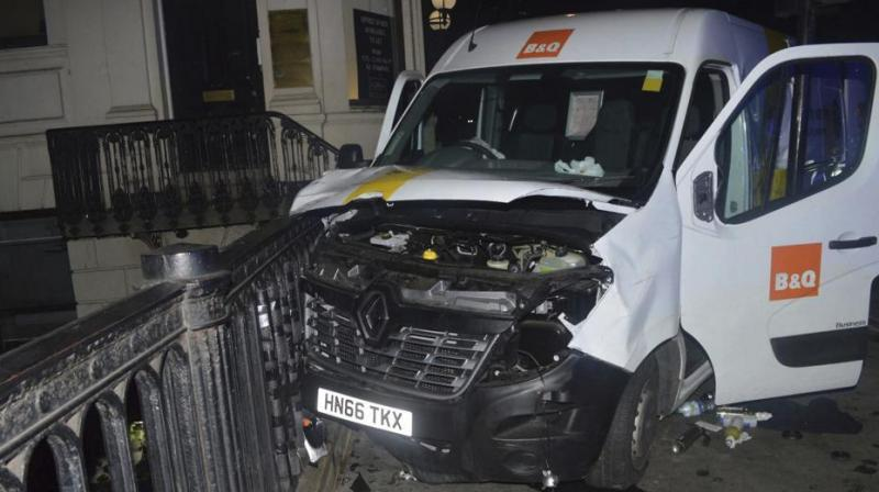 A photo of the van used in the London Bridge attacks of June 3. (Photo: AP)