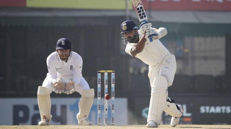 Murali Vijay found himself in a spot of bother, but a technicality in the rulebook saved him. (Photo: BCCI)