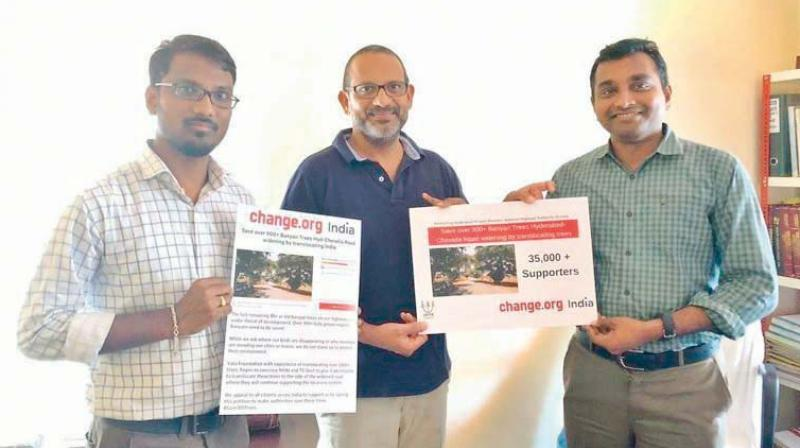 Uday Peddireddi from Hyderabad, whose petition successfully managed to prevent hundreds of trees from being cut when a national highway was about to be built