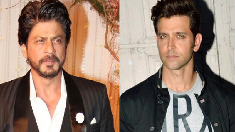 Shah Rukh has featured in several films directed by Hrithik Roshan's father Rakesh Roshan.