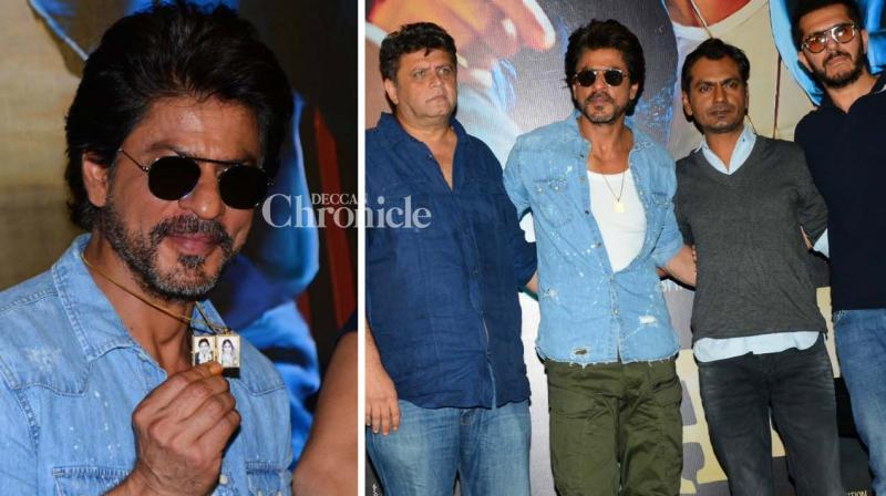 Shah Rukh Khan launched the trailer of his much aniticipated film 'Raees' on Wednesday with the team. (Photo: Viral Bhayani)