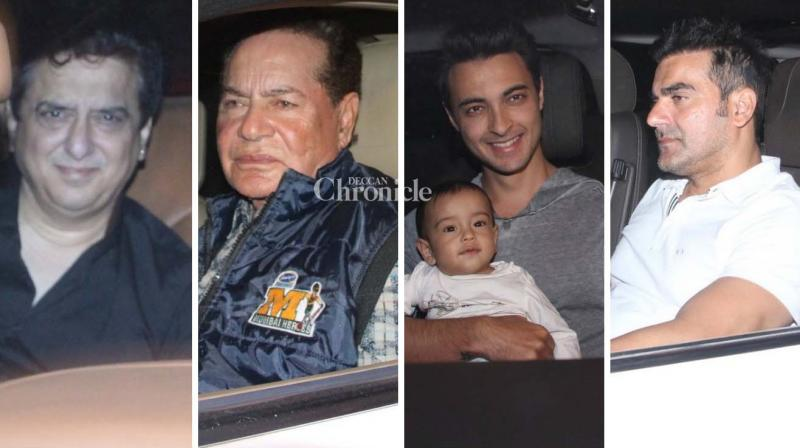 Salim Khan celebrated his birthday on Thursday and several of their family members and friends from the film industry were spotted arriving for it. (Photo: Viral Bhayani)