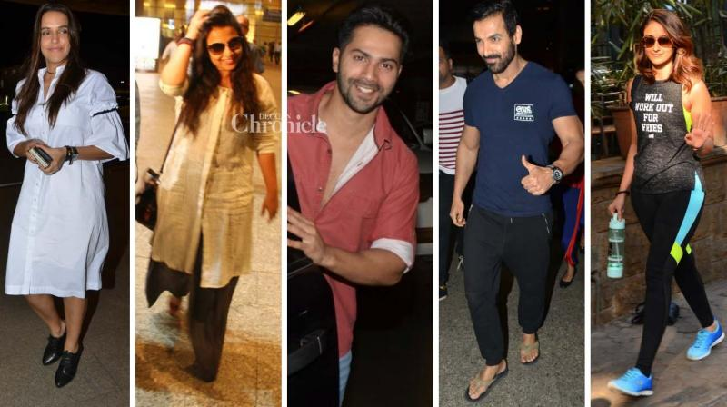 Bollywood celebrities were snapped at the airport and other places in Mumbai on Thursday. (Photo: Viral Bhayani)