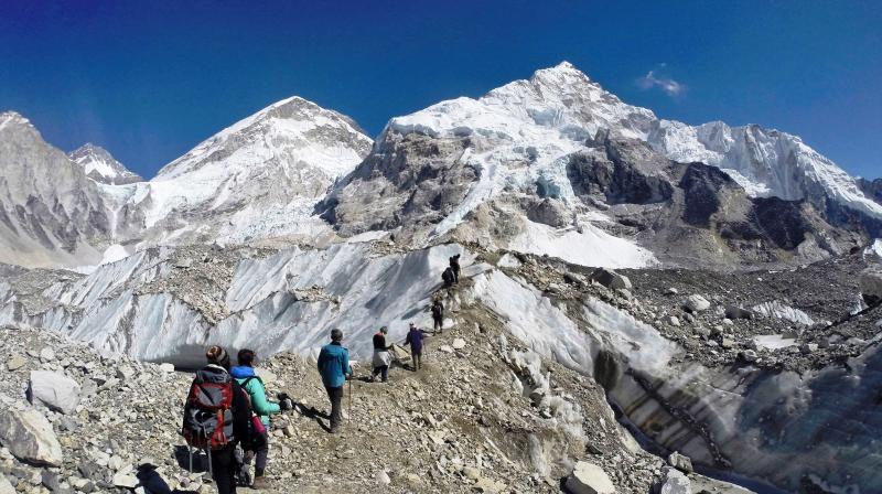 One-third of Himalayan glaciers will melt by the end of the century due to climate change, threatening water sources for 1.9 billion people. (Photo: AP)