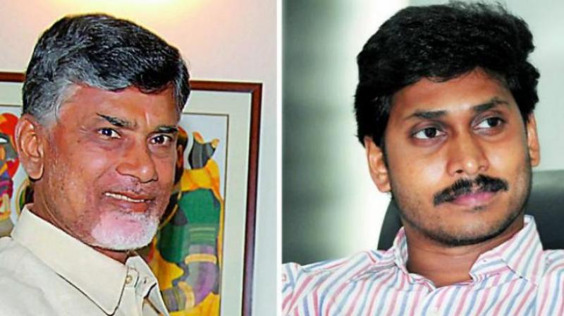 Chandrababu Naidu and YS Jaganmohan Reddy