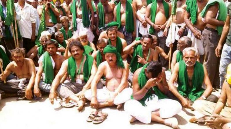 A file photo of Mahadayi farmers protesting in Nargund.