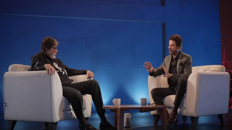 Screengrab of Badla Unplugged - Episode 1 featuring Amitabh Bachchan and Shah Rukh Khan. (Courtesy: YouTube/Red Chillies Entertainment)