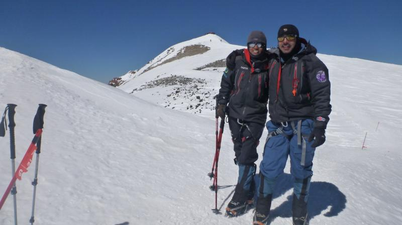 Ajeet Bajaj, a renowned adventurer-explorer, and Deeya, his fearless daughter-protégé and mountaineer, embarked on this incredible journey last month on April 16 when they reached base camp at 16,700 feet above sea level.