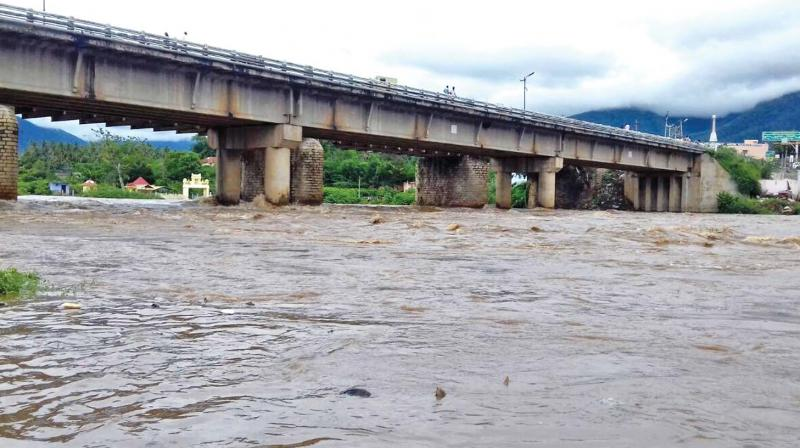 Heavy rains in the Siruvani and Bhavani catchments