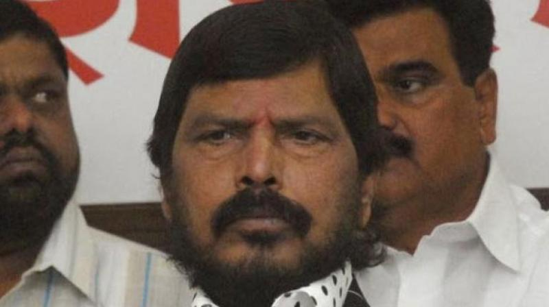 In his address, Athawale took a jibe at the Congress party and Congress president Rahul Gandhi on the party's electoral loss. (Photo: PTI)