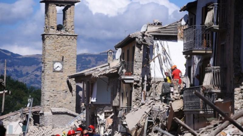 A right-wing Catholic radio station said that Italy earthquakes was God's punishment for the country approving same-sex civil unions. (Photo: AP)