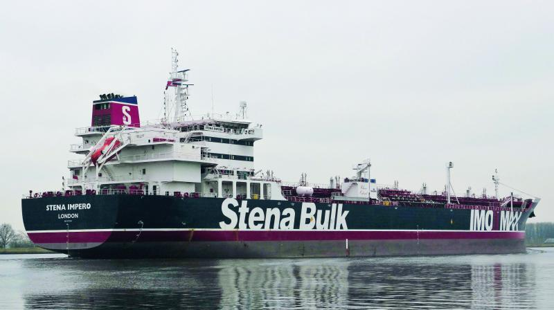 Stena Impero, the British-flagged tanker, which has been seized by Iran.  (AFP)