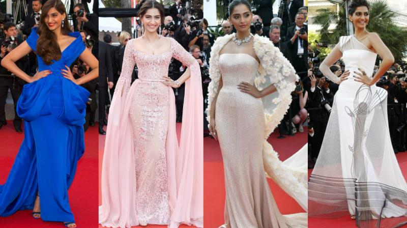 The regular stunner Aishwarya Rai Bachchan grabbed headlines this time too and Deepika Padukone made a stunning debut at the Cannes film festival this year. However, Sonam Kapoor has also managed to establish her own idenity on the red carpet with her fashion sense. Her appearances at the film festival are among the main reasons she is known as a fashionista in Bollywood. Here we take a look at her outfits at the festival in the last seven years.
