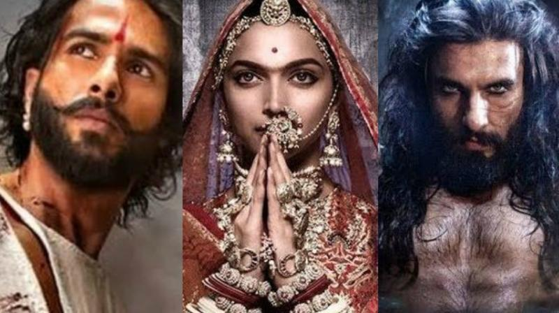 'Padmavati', starring Deepika Padukone, Shahid Kapoor and Ranveer Singh has kicked up a row as Rajput organisations in Rajasthan have accused the filmmaker of distorting history. (Photo: File)