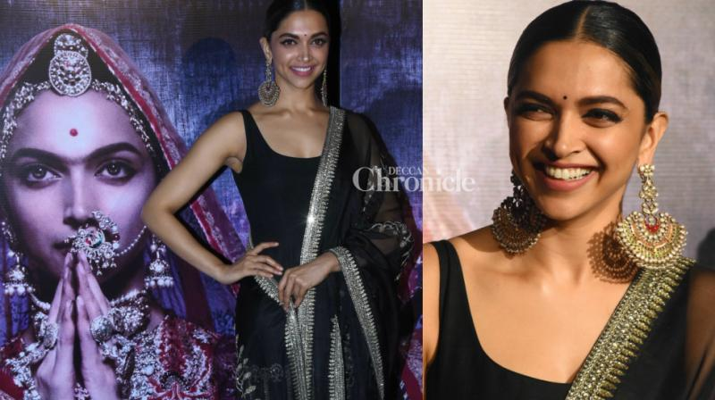 Deepika Padukone launched the 3D trailer of her upcoming film 'Padmavati' at an event in Mumbai on Tuesday. (Photo: Viral Bhayani)