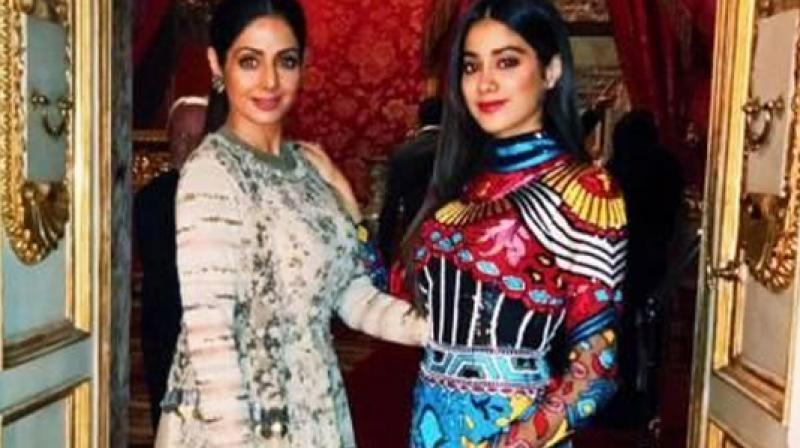Sridevi and Jhanvi Kapoor.