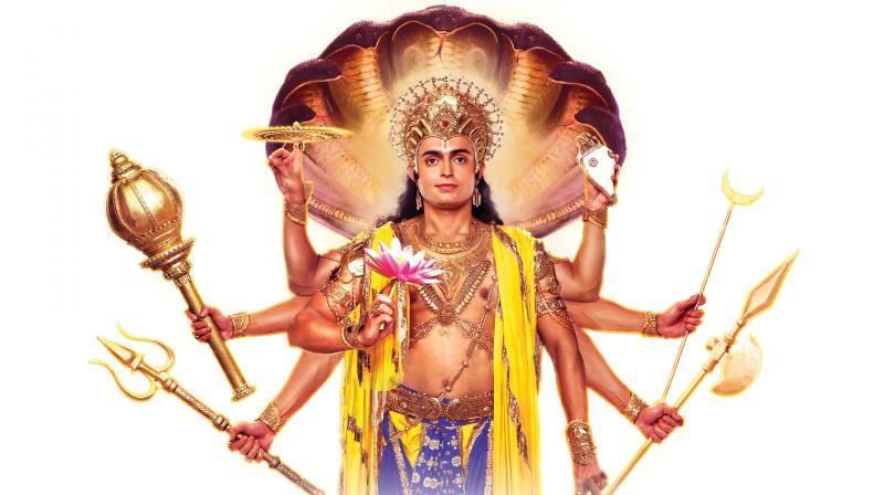A still from Shri Vishnu Dashavataara serial