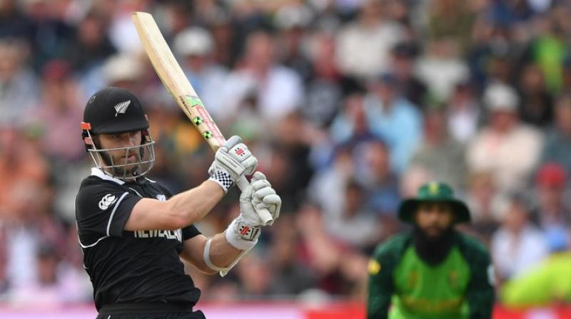 Kiwi skipper Kane Williamson scored his first World Cup century to secure a victory for New Zealand in a close encounter against South Africa at Edgbaston in Birmingham. He scored 106 from 138 balls to maintain his side's unbeaten streak in the tournament. (Photo: Blackcaps/twitter)