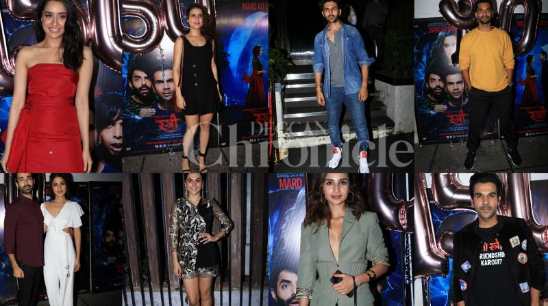 The makers of the horror comedy 'Stree' held a star-studded success bash of the film in Mumbai on Tuesday. (Photos: Viral Bhayani)