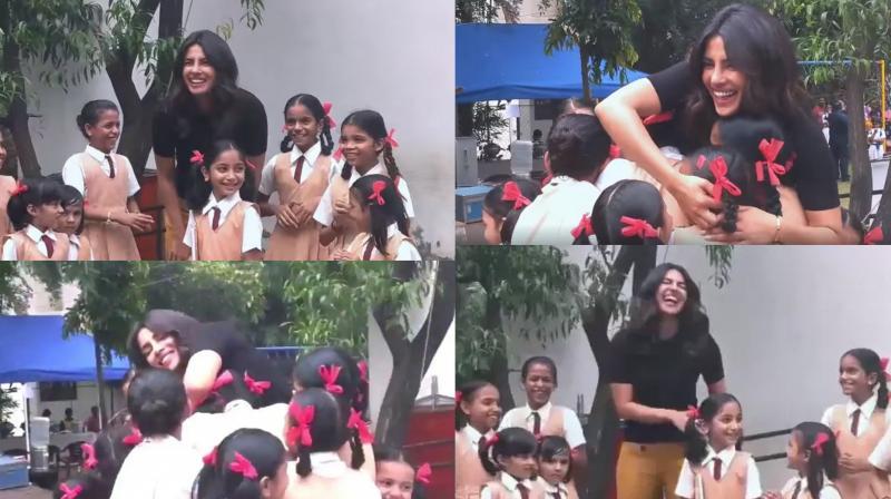 Stills from video posted by Priyanka Chopra. (Courtesy: Twitter)