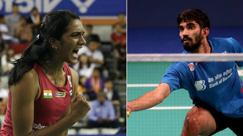 Former champions PV Sindhu and Kidambi Srikanth recorded contrasting victories to advance to the quarterfinals of the China Open World Tour Super 750 on Thursday. (Photo: PTI)