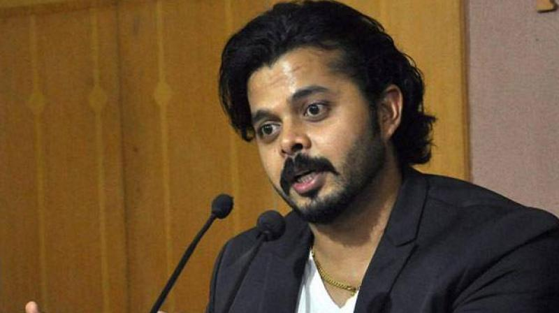 The bench passed this order on Sreesanth's plea challenging the decision of a division bench of the Kerala High Court which had restored the life ban imposed on him by the BCCI. (Photo: PTI)