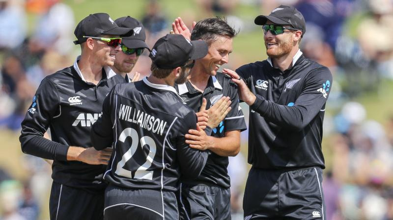 A five-wicket haul from Trent Boult guided New Zealand to an easy win against India in the fourth ODI on Thursday.(Photo: AP)