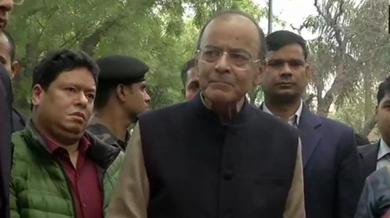 Finance Minister Arun Jaitley on Thursday hailed the BJP slogan for the forthcoming elections -- 'Modi Hai to Mumkin Hai', meaning Modi makes it possible. (Photo: File)