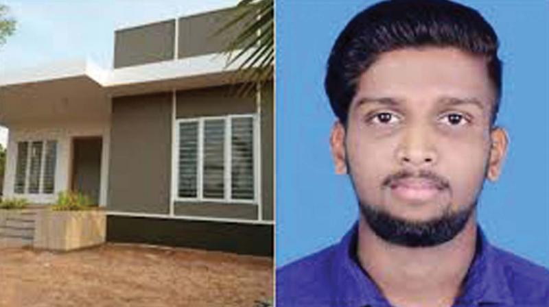 New house (left) built for the family of Kripesh who was murded at Periya