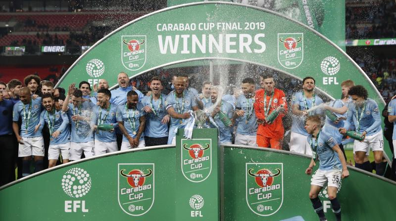 As Manchester City celebrated defending the League Cup, Chelsea was trying to clean up the fallout from a player mutiny on the Wembley field. (Photo: AP)