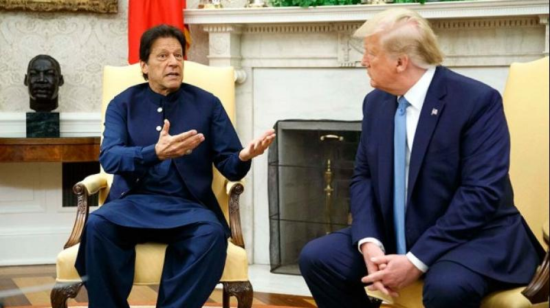 Trump spoke by telephone with Khan to discuss 'the need to reduce tensions and moderate rhetoric with India over the situation in Jammu and Kashmir'. (Photo: AP)