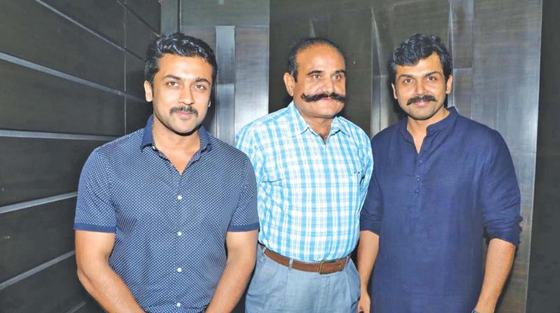 DGP Jangid with Karthi and Suriya