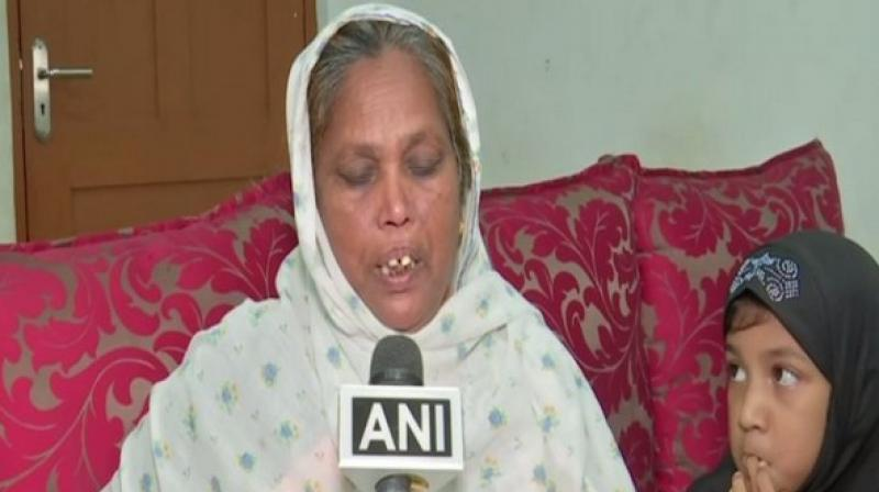 Shaheen had gone to Oman during Ramzan this year on the pretext of working as a helper, however, she later informed her family that she is being employed as a housemaid is facing harassment. (Photo: ANI)