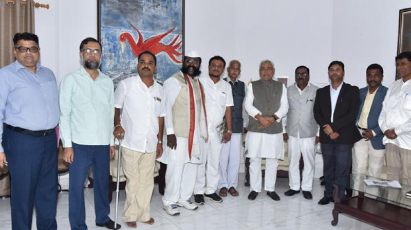 A 31-member delegation of the KSTB visited Bihar to take tips from Nitish Kumar on the prohibition policy as well as its implementation. (Photo: ANI)
