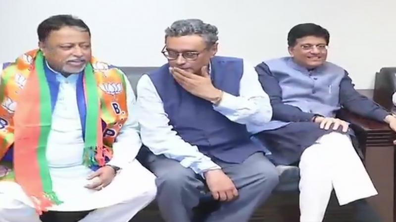 Former Trinamool Congress (TMC) MP Mukul Roy joined the Bharatiya Janata Party on Friday. (Photo: ANI)