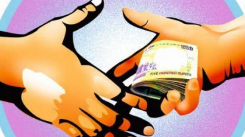 Wanaparthy tahsildar B. Mallikarjun Rao was caught red handed accepting bribe of Rs 1. 5 lakh in return of an official favour.  (Representational image)
