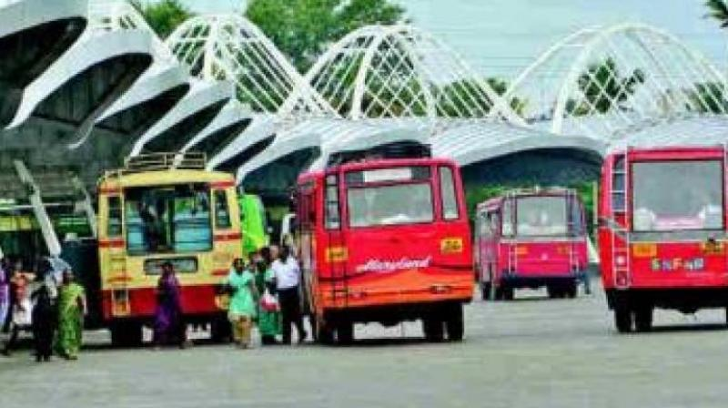 Countering the petitioner contentions, J. Ramachandra Rao, additional advocate-general said the State was taking steps to run a sufficient number of buses so that no citizen was put to hardship. (Representational image)