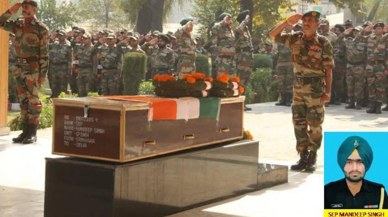 Sepoy Mandeep Singh's father said the Indian Army should give a befitting reply to Pakistan.