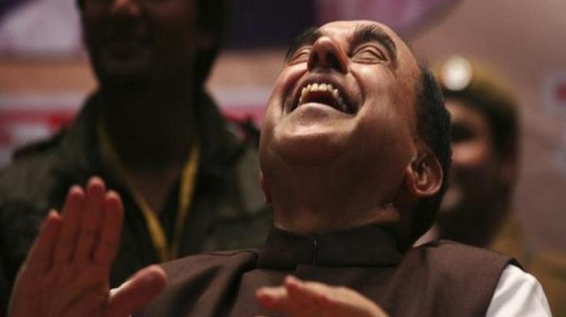 Bharatiya Janata Party (BJP) leader Subramanian Swamy. (Photo: ANI)