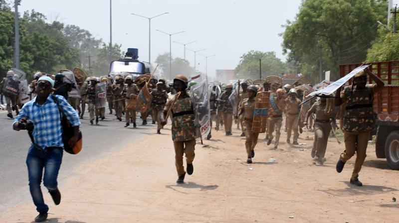 The Tamil Nadu Police had opened fire on protestors on the 100th day of protests as locals allegedly turned violent demanding the closure of Sterlite copper plant, a unit of Vedanta group over purported pollution concerns killing 13 people, the police had claimed. (Photo: File   AFP)